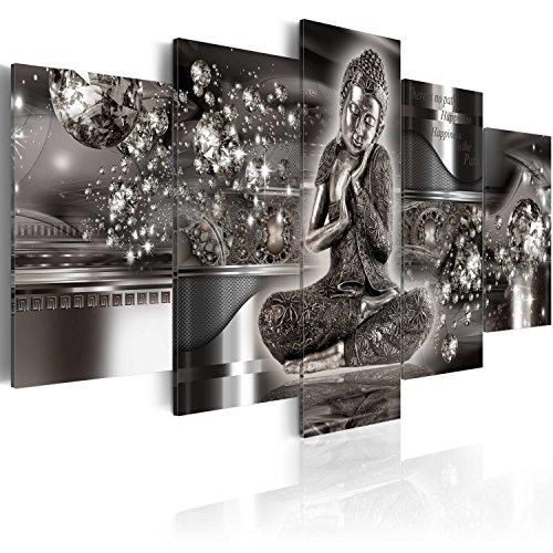 murando - Cuadro en Lienzo Buda Zen SPA 200x100 cm Impresión de 5 Piezas Material Tejido no Tejido Impresión Artística Imagen Gráfica Decoracion de Pared h-A-0053-b-p