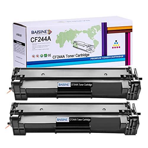 BAISINE Kompatibel 2er Pack HP Laserjet M15w für CF244A 44A Schwarz Toner mit Chip für HP Laserjet Pro MFP M28w M15a M15w M28a Drucker 1000 Seiten
