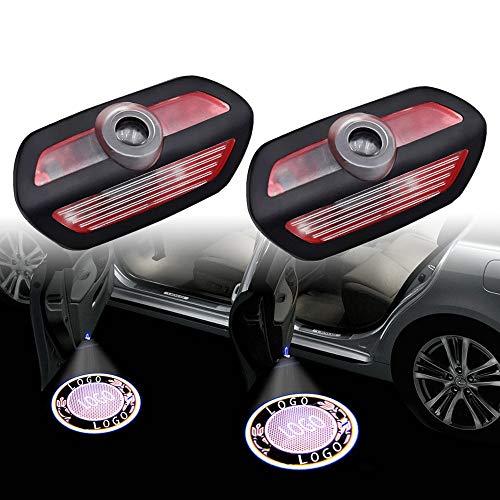 ZFDM Für Mercedes AMG LED Auto Logo Laser Projektor Light Auto Emblem Tür Höflichkeit Welcome Lamp Shadow Luces für Benz Klasse S Sl W222 (Color : 4 Pieces, Emitting Color : Wheat Ears White)