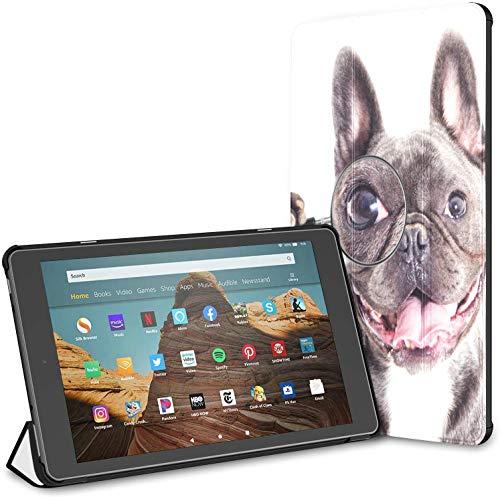 Estuche para Perro con Lupa para Tableta Fire HD 10 (novena/séptima generación, versión 2019/2017) Estuche rígido para Kindle Fundas para Kindle Fire HD 10 Auto Wake/Sleep para Tableta de 10.1 p