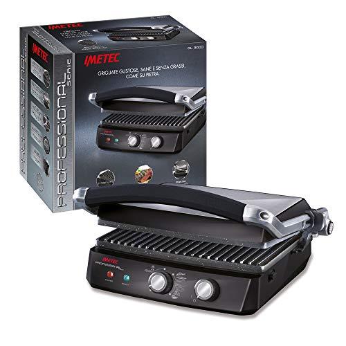 Imetec Professional Serie GL 3000 Bistecchiera, Piastre Antiaderenti Removibili, Rivestimento Triplo Strato...