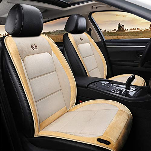 liangh Heat Car Seat Cover,12V Heated Seats Cushion,1 Pack Soft Comfortable Seat Warmer Pad,Drivers Heated Seats Pad to Relieve Fatigue and Warmth Body,Best Birthday Gifts for Him,Beige