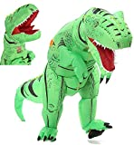 FUNNY COSTUMES Adult Size T Rex Costume Inflatable Dinosaur Costume Halloween Costume (Dino Green Large)
