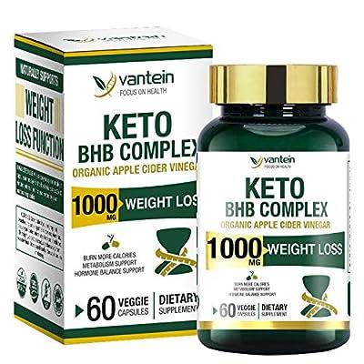 Keto Pills, 60 Capsules Fat Burner & Weight Loss BHB Supplement Formula Keto Burn Diet Pills, Women Men Appetite Suppressant Increases Energy Support, 30 Day Supply