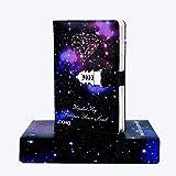 Cuaderno de piel con bloqueo de combinación de bloqueo de bloqueo de constelación personal, diario de escritura de tapa dura, páginas de colores, regalos para mujeres y niñas