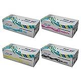 Set of 4 Compatible Cartuchos de Toner para OKI Impresoras C5541, C5400N, C5400DTN, C5400TN, C5400dn, C5400, C5300N, C5300, C5200, C5100N, C5100, C5000 --- MAXIMA CALIDAD Reemplazo para OKI C5100 por POWER OF COLOURS