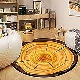 Oukerde Alfombra de Dormitorio de Anillo Anual,alfombras de área Lavables a máquina Antideslizantes Redondas Suaves,alfombras de Piso Cojín de Silla de computadora de Dormitorio de Sala de Estar