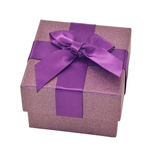 Schmuckbox von Paialco, aus Papier, mit Schleife, Geschenkbox, Papier, violett, S