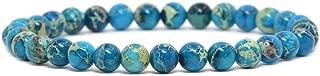 Gem Semi Precious Gemstone 6mm Round Beads Stretch Bracelet 6.5