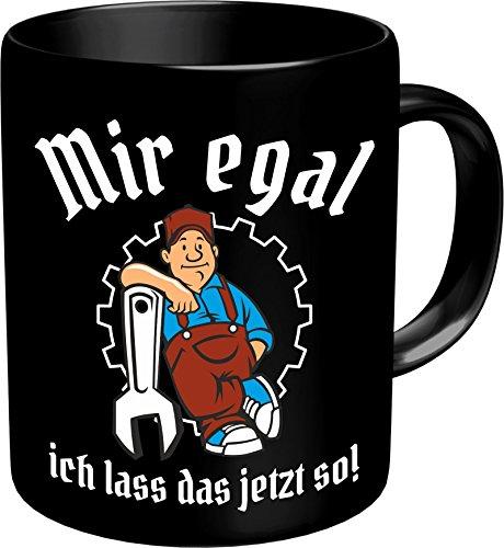 RAHMENLOS® Kaffeebecher für den Handwerker oder Mechaniker: Mir egal, ich Lass Das jetzt so! - Im Geschenkkarton 2627