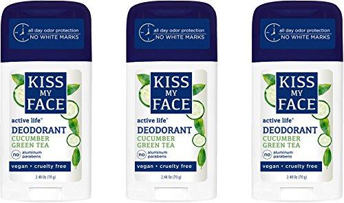 Kiss My Face Signature Bundles - Active Life Aluminum Free Deodorant, Cucumber Green Tea, 7.44 oz, 3 count