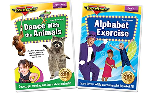 Preschool Active Learning 2 DVD Set - Alphabet Exercise and Dance with The Animals
