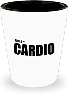 Zombieland Rule #1 Cardio Funny Gift Shot Glass Number One Zombie Land Zombies Sarcastic Movie Quote
