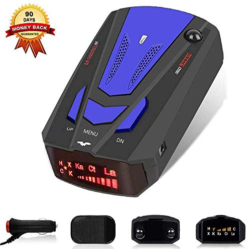 Lowest Prices! Laser Radar Detector,Voice Prompt Speed for Cars, Vehicle Speed Alarm System,LED Disp...