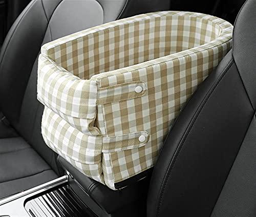 Asiento de control central para coche con nido de mascota portátil cama de perro asiento de seguridad lavable desmontable para suministros de perro de viaje