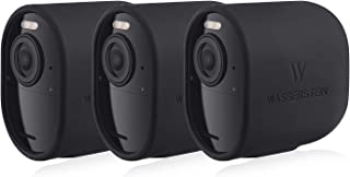 Protective Silicone Skins Compatible with Arlo Ultra - Accessorize and Protect Your Arlo Camera (Black, 3 Pack)