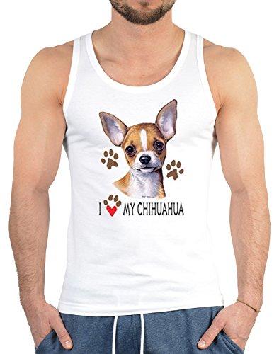 Männer-Tank -Top/Träger-Shirt/Muskel-Shirt Hunde- Druck: I Love My Chihuahua - toller Look