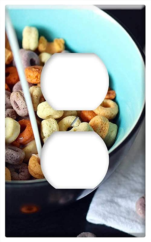 Switch Plate Outlet Cover Cereal Spoon Milk Cheerios Children Kid Morning 1