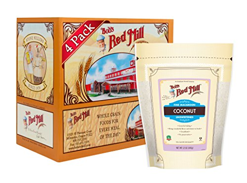 Bob's Red Mill Fine Macaroon Coconut (Unsweetened), 12 Ounce (Pack of 4, Stand up Pouch)