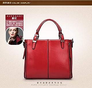Trendy Red Top Handle Bag For Women Fashion Leather Ladies HandBag Casual Business Messenger Bag