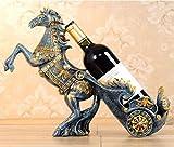 DC Wesley Salón Europeo Creativo Coche De Caballos Estante del Vino Rojo Hogar Creativo Adornos De Vino Tinto Adornos