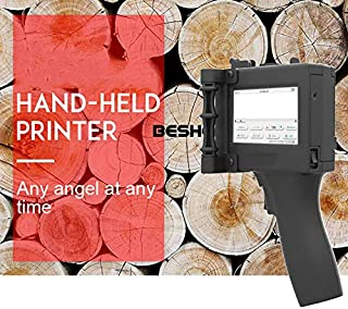 BESHENG Touch Screen Handheld Inkjet Printer for Trademark/Logo/Graphic/Date Coder/Label, Used for Food Packing Label Machine, Cosmetics, Plastic, Glass, Metal, Pipe, Stone, Wood Board, Leather etc.