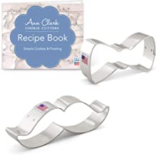 Ann Clark Cookie Cutters 2-Piece Little Man Cookie Cutter Set with Recipe Booklet, Bow Tie and Mustache