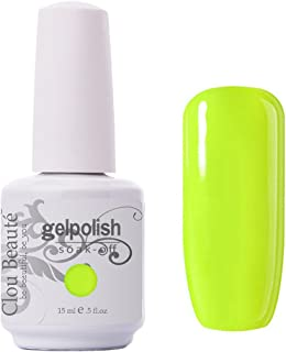 Clou Beaute Gelpolish 15ml Soak Off UV Led Gel Polish Lacquer Nail Art Manicure Varnish Color Neon Yellow Green 1474