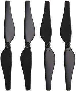 新 4個のクイックリリースドローンプロペラ/ DJIに適合/Telloミニドローンプロペラに適合CCW/CWプロペラスペアパーツドローンアクセサリー(色:黒) (Color : Black)