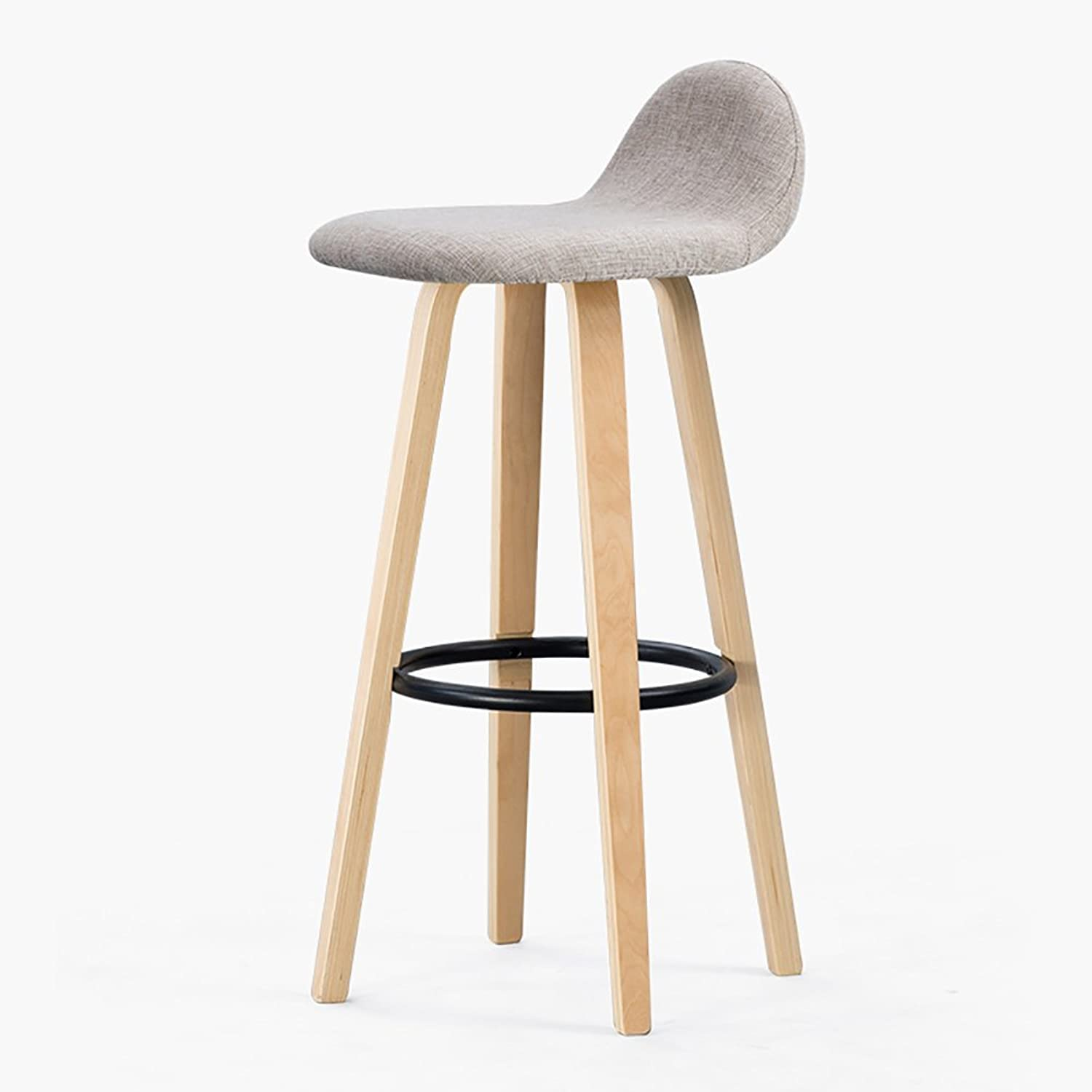 FXNN Chair - Stylish Simple Solid Wood Removable and Washable Home bar Stool Chair (color   D, Size   37  41  82cm)