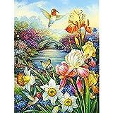 Art Full Drill Set para adultos o niños Arts Craft para HomePaint Hermosas flores40x50CM