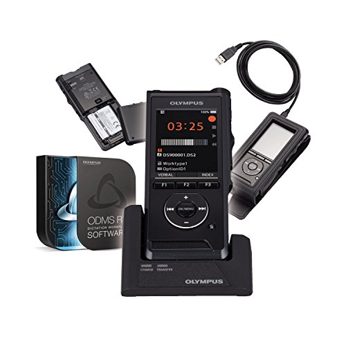 Olympus DS-9000 |Professionelles Diktiergerät mit Diktatmanagementsoftware ODMS| PIN | Verschlüsselung | 2 integr. Mikrofone | USB | Integr. Schiebeschalter | Dockingstation, V741020BE010