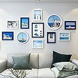 KINGXX-03 Marcos de Fotos Marco de Familia White Photo Collage combinación de indicación Decoración Conjunto de 11 Piezas