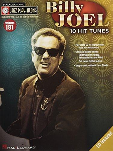 Jazz Play Along Volume 181: Billy Joel: Noten, CD für: 10 Hit Tunes (Hal-leonard Jazz Play-along, Band 181)