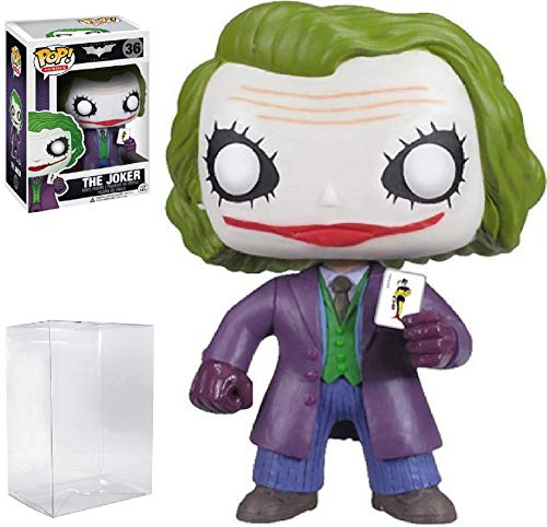 Funko POP! Heroes: DC Comics Batman: The Dark Knight Movie - The Joker #36 Vinyl Figure (Bundled with Pop Box Protector Case)