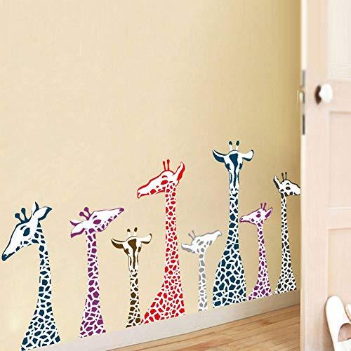 QWEDSA Giraffe Kinderkamer Decoratie Muurstickers Cartoon Dierenkwekerij Home Decor Poster Fotobehang