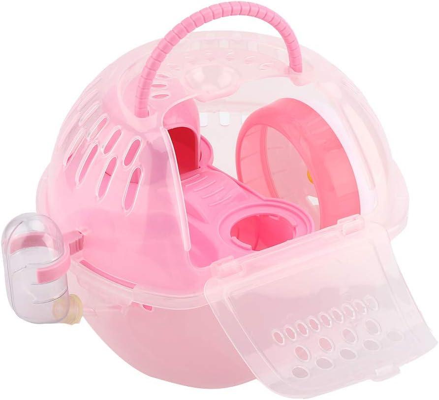 GLOGLOW Hamster Cage Max 73% OFF Portable Hamst Albuquerque Mall Transparent Outdoor Plastic