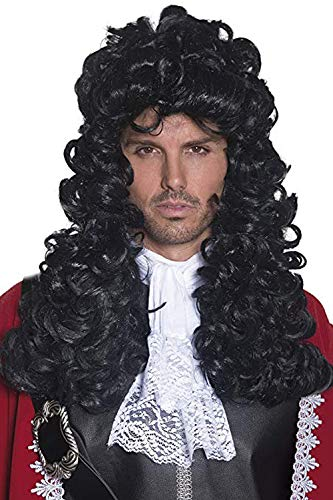WQWIG Dama o Hombre Fiesta Peluca Halloween Disfraces Largo Ondulado Negro Conde Oscuro Drácula Vampiro…
