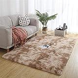 Muutos Carpet 120x140cm, Langflor Carpet, Allergikergeeignet, Strapazierfähig, für Wohnzimmer, Schlafzimmmer, Kinderzimmer, Esszimme - Khaki