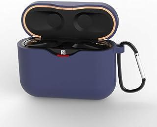 Tookss Silikon Schutzhülle für Sony WF 1000XM3, 1,5 mm dick, Mitternachtsblau