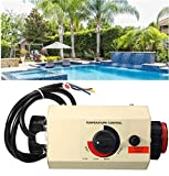 TOPCHANCES Pool Heater Thermostat 220V 3KW Portable Pool Heater Electric Water Heater Thermostat Heater Pump...