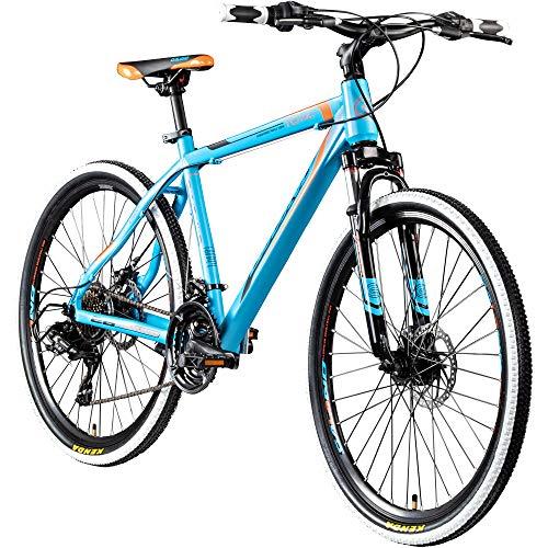 Galano 26 Zoll Toxic Mountainbike Hardtail MTB Jugendmountainbike Jugendfahrrad (blau/orange, 46 cm)