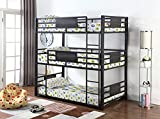 Coaster Home Furnishings Rogen Full Triple Bunk Bed, Dark Bronze