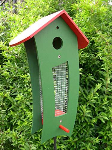 Futtersilo Futterhaus grün/rot