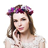 Corona de Ever Fairy® de estilo griego, rústico y natural Flower Crown - B Talla única