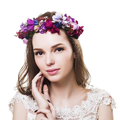 Corona de Ever Fairy de estilo griego, rstico y natural Flower Crown - B Talla nica
