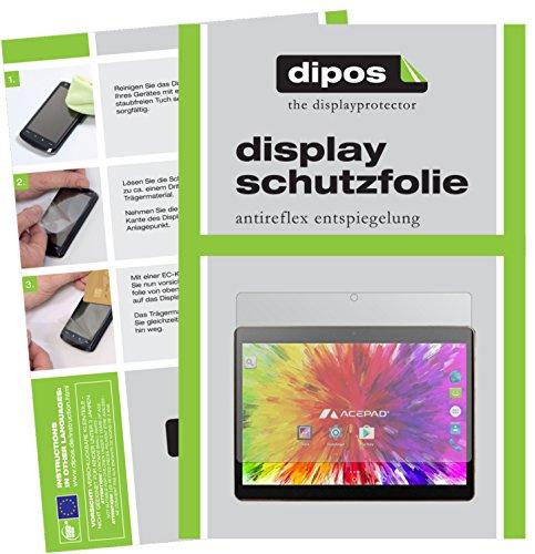 dipos I 2X Schutzfolie matt kompatibel mit Acepad A121 Folie Displayschutzfolie