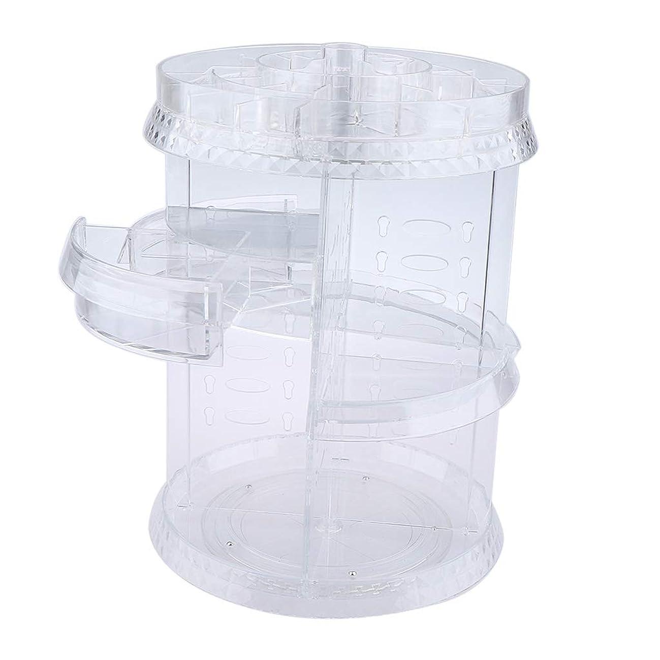 じゃがいも応じる満足P Prettyia 化粧品収納ホルダー クリア 360回転 メイクアップブラシ コスメ収納 プラスチック製 2タイプ選べ - 引き出しスタイル