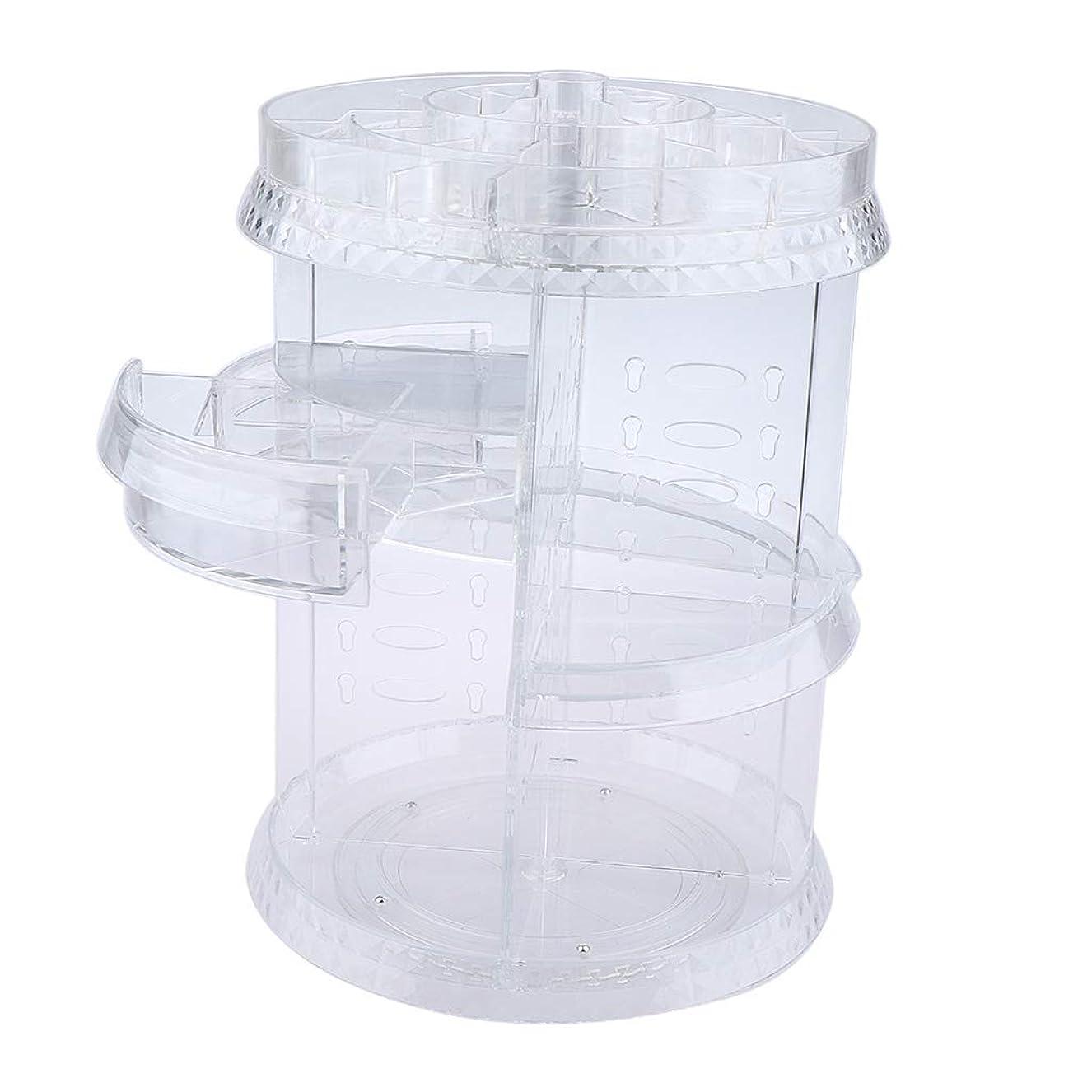 ピカソ禁じるステップP Prettyia 化粧品収納ホルダー クリア 360回転 メイクアップブラシ コスメ収納 プラスチック製 2タイプ選べ - 引き出しスタイル