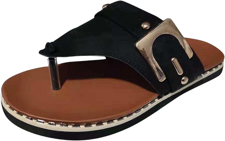 Pzhhzpingg Women's Flip Flops Summer Fashion Clip Casual T Suede Max 41% quality assurance OFF